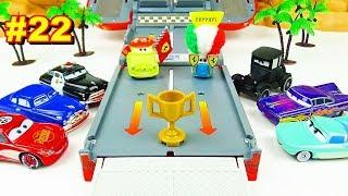 Cars 3 Toys Speedway Race Tournament Vol.22  Luigi Guido Lizzie Doc Hudson Lightning McQueen