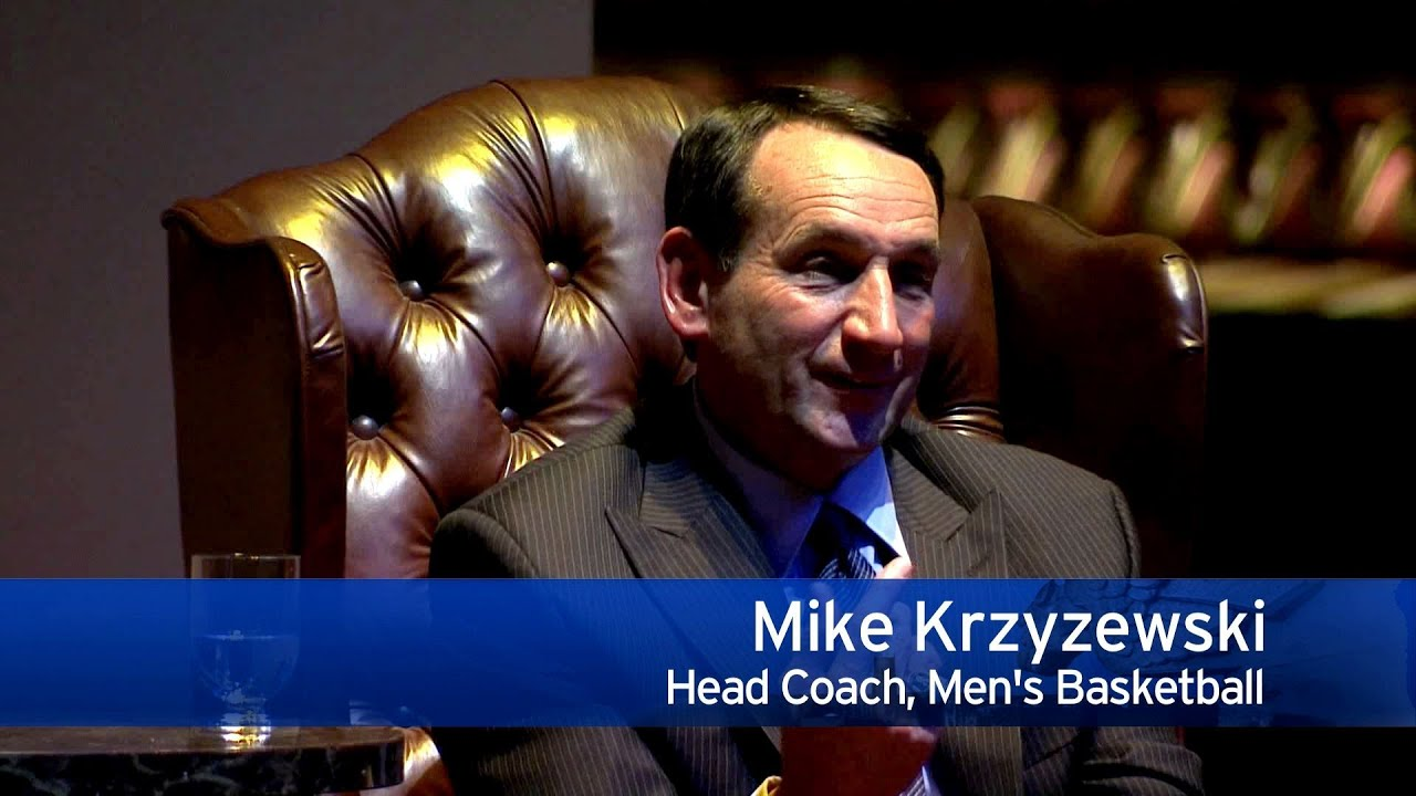 Lessons in Leadership with Duke University's Coach K - YouTube