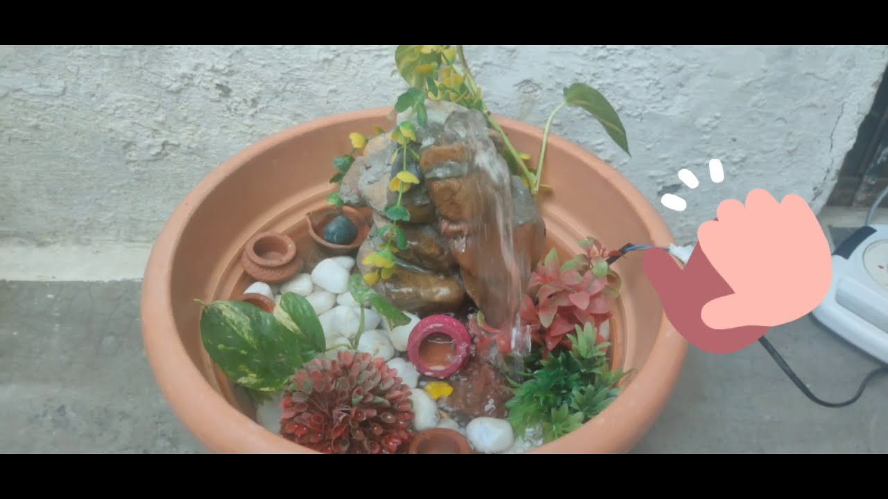 DIY FOUNTAIN | How to make a fountain | fountain with old ...