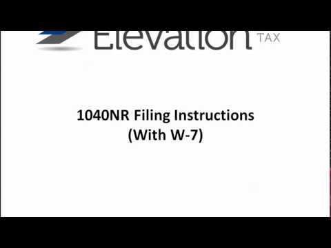 1040NR Mailing Instructions With W-7 (Email)