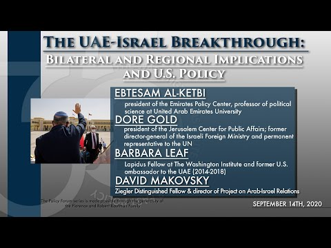 The UAE-Israel Breakthrough: Bilateral and Regional Implications and U.S. Policy