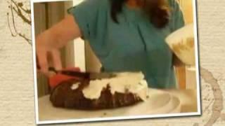 Coconut Cake With Coconut Rum Cream Frosting