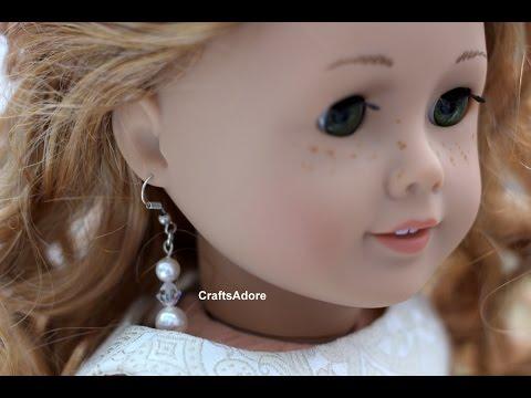How To Pierce American Girl Doll's Ears To Wear Human Earrings Tutorial ~HD~