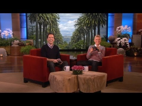 Ellen and Ed Helms Fly Helicopters
