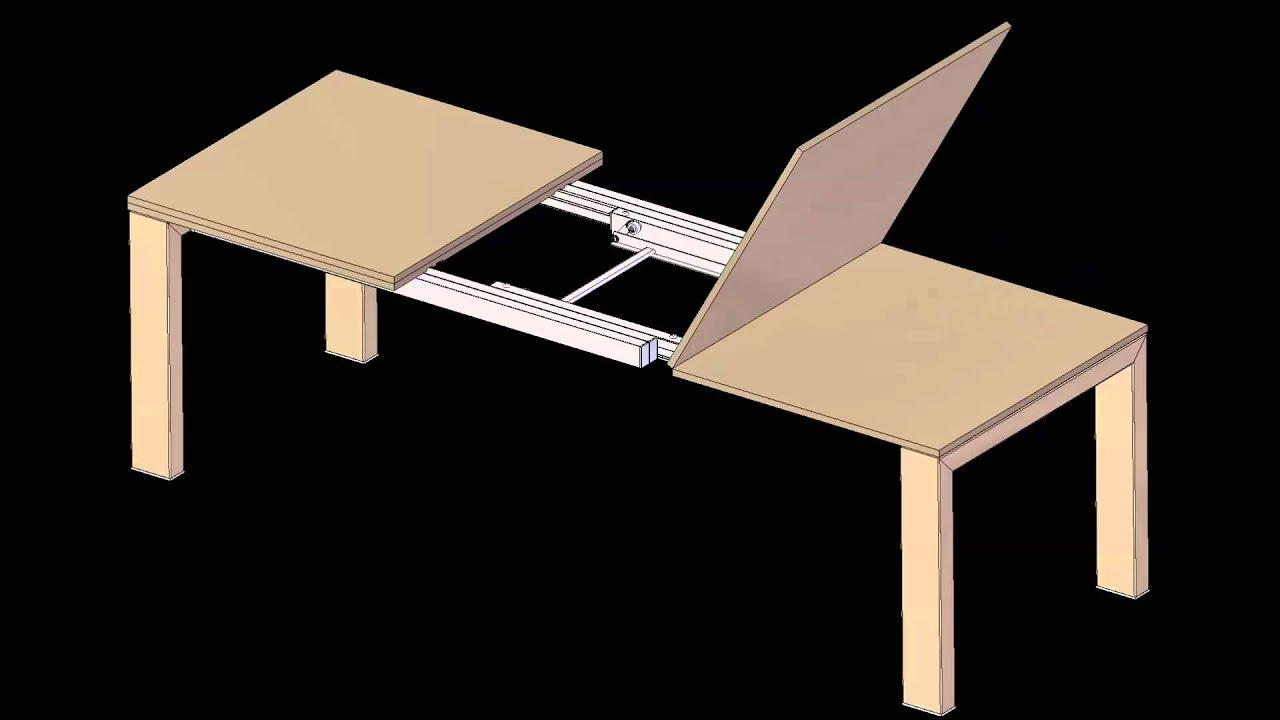 E12CD meccanismo per tavolo con doppio piano a libro - mezza ...