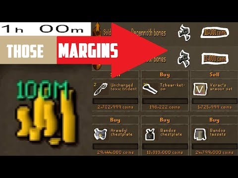 1 Hour of FLIPPING with 100m! G.E Flipping, MAKING BANK?! - Oldschool 2007 Runescape