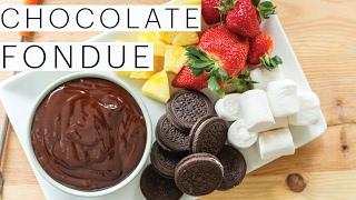 Valentine's Day Dessert | Vegan Chocolate Fondue | Chocolate Dipped Strawberries | The Edgy Veg
