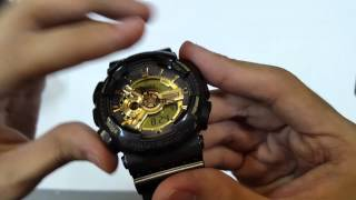CASIO G-SHOCK WATCH GA-110BR-5ADR UNBOXING