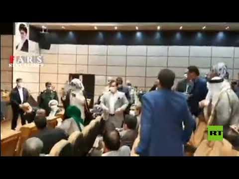 شاهد.. زعماء عشائر إيرانية يعربون خلال لقاء مع نائب الرئيس عن غضبهم من أداء الحكومة
