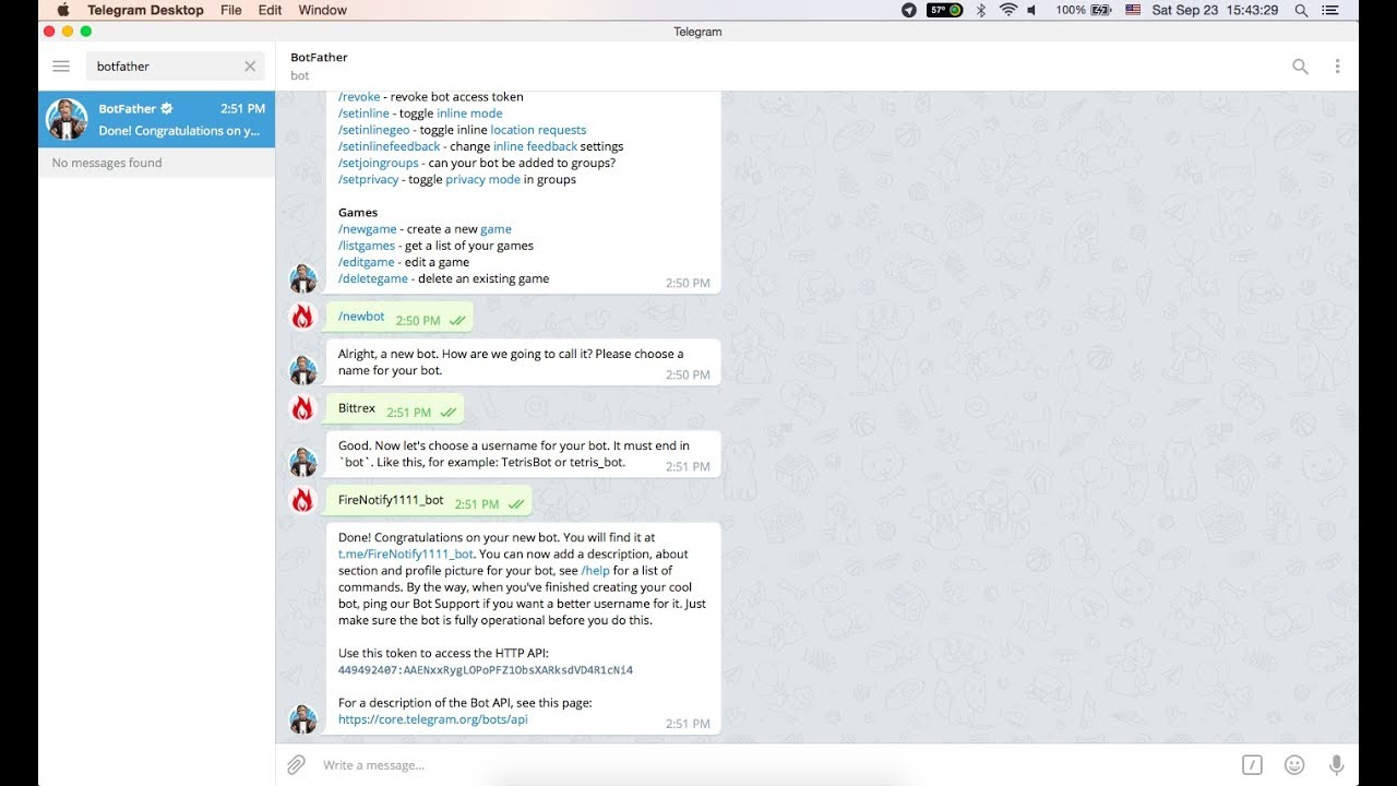 [FireBurn] How to create an Telegram Bot Token & Get Chat ID?
