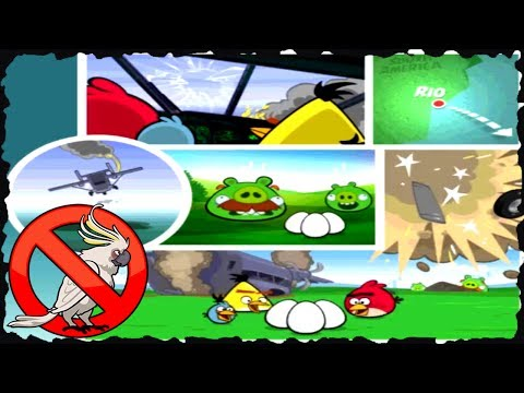 Angry Birds Rio - Smuggleres' Plane All Levels Three Star Walkthrough