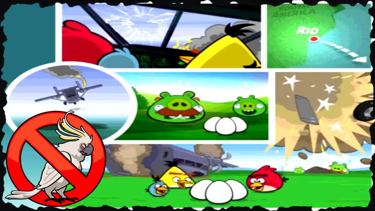 Angry birds rio smuggleres 39 plane all levels three star - Angry birds trio ...