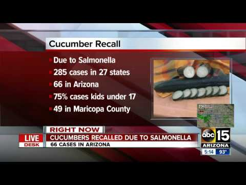 Cucumber recall due to Salmonella outbreak