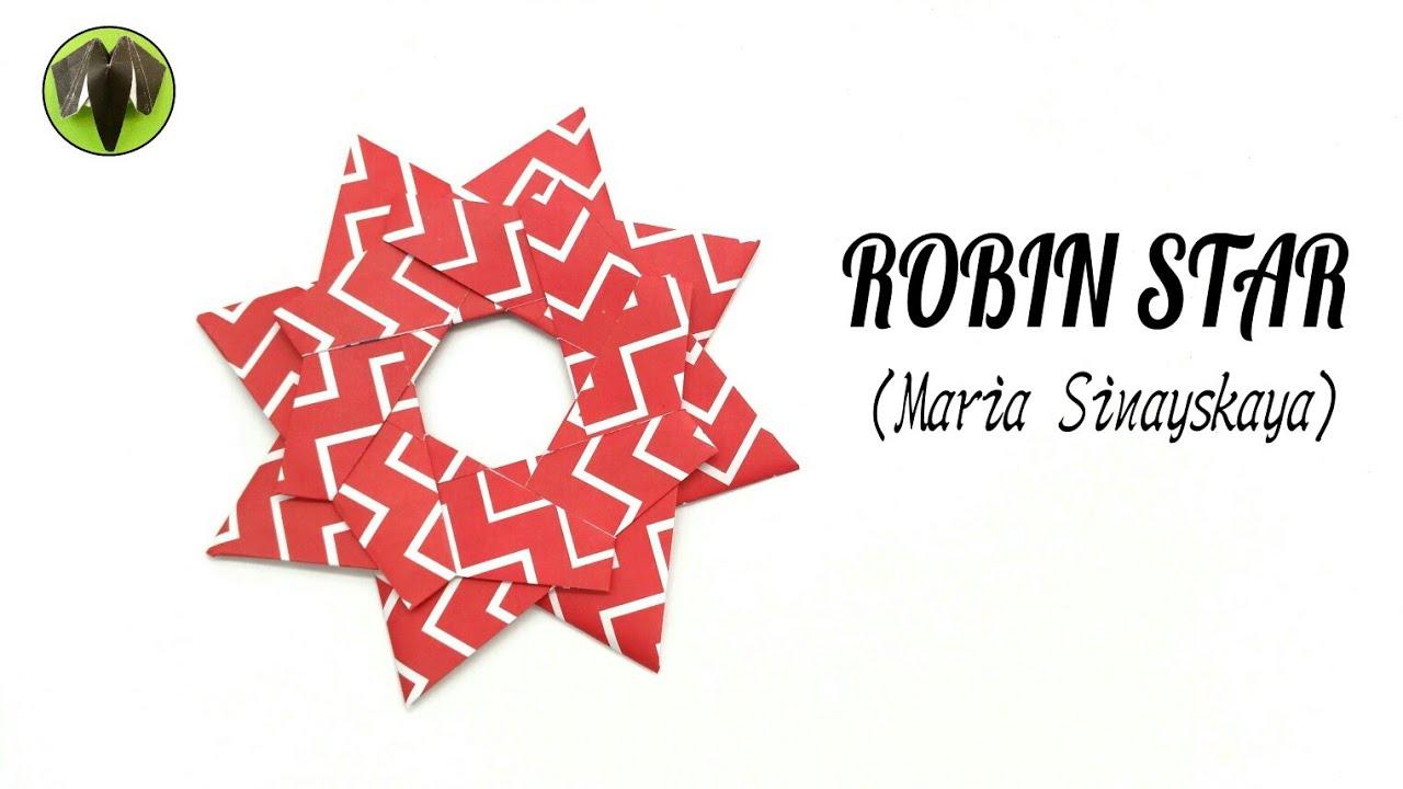 Christmas Origami Robin Star by Maria Sinayskaya - Yakomoga ... | 720x1280