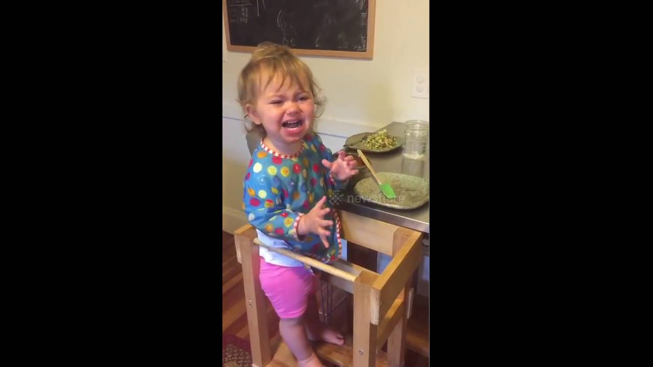 Baby cries for bacon