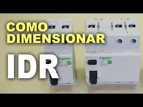 Como dimensionar IDR - Interruptor diferencial residual?