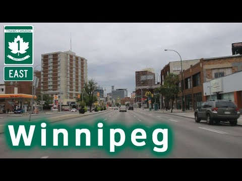 Trans Canada Highway East into Winnipeg