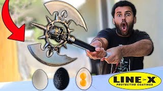 This SPRAY Makes Anything UNBREAKABLE!! (LINE-X EGG) *As Seen On TV Test*