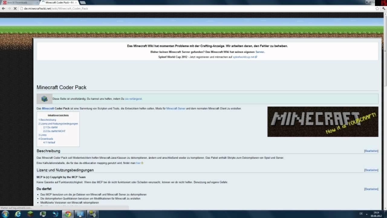 ApfelkuchenLpT YouTube Gaming - Minecraft server erstellen gefahren
