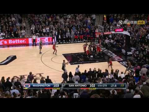 Danny Green 3-pointer with Wizards 2016-12-02