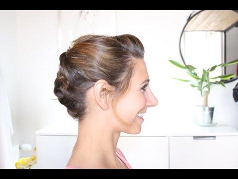Chignon Pour Cheveux Au Carre Degrades Marion Blush Youtube