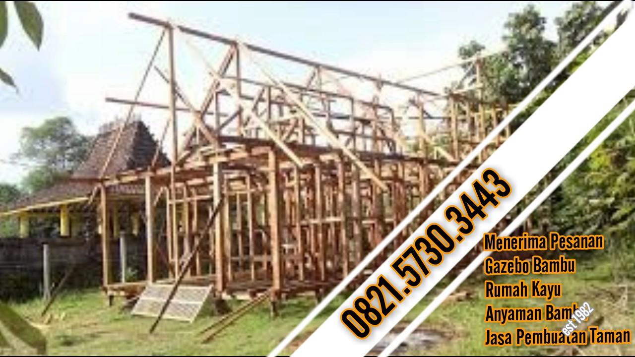 42 Gambar Rumah Kayu Atau Bambu Terbaru