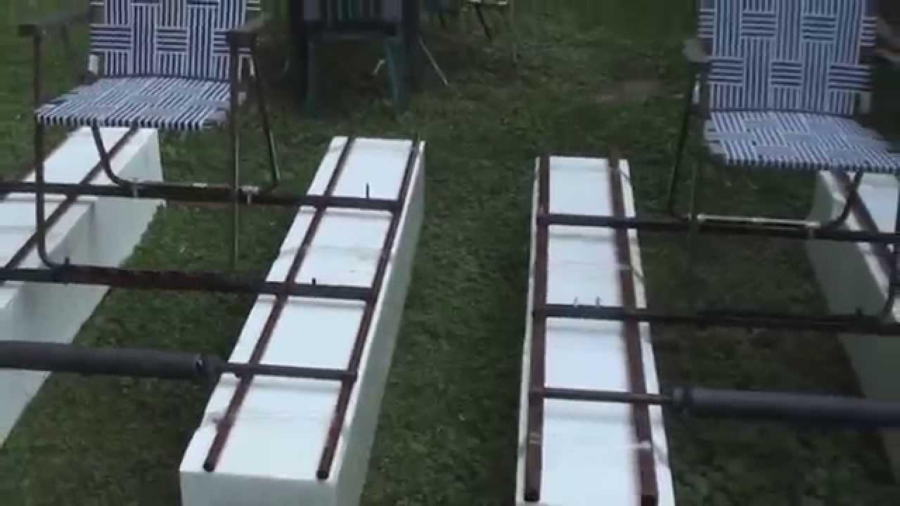 lawn chairs tufted swivel barrel chair homemade styrofoam rafts - youtube
