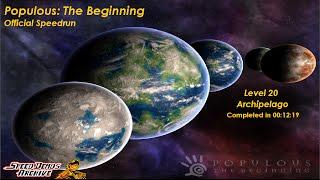 Populous: The Beginning (Official Speedrun) - Level 20 (00:12:19)
