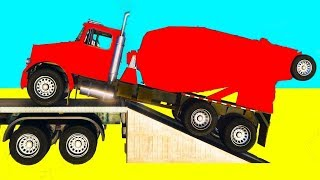 Funny Truck with Lightning McQueen Cars 3D Animation w/ Songs