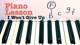 I Won't Give Up- Jason Mraz Piano Lesson (Todd Downing)