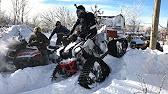 Квадроцикл на Гусеницах Зимой. Снегоход Stels Расомаха 800. - YouTube