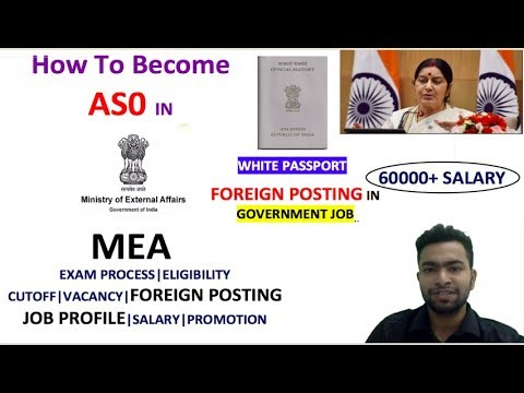 ASO IN MEA JOB PROFILE|FOREIGN POSTING | EXAM| TRAINING| SALARY| PROMOTION