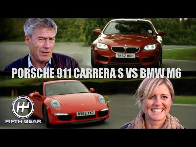 Porsche 911 Carrera VS BMW M6 - Tiff VS Sabine the FULL Challenge | Fifth Gear