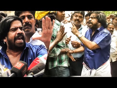 T. Rajendar's Angry Speech on Kamal Hassan & Slams Reporter | PRESS MEET | TN 219