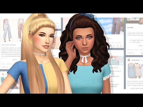 SO MANY HAIRS 😍 - CC SHOPPING WITH ELLI #8   Sims 4 Maxis Match Goodies