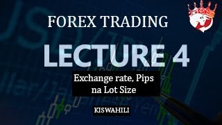 FOREX TANZANIA KISWAHILI - Lecture 4  (Exchange rate, PIPS and LOT SIZES ), scalpking