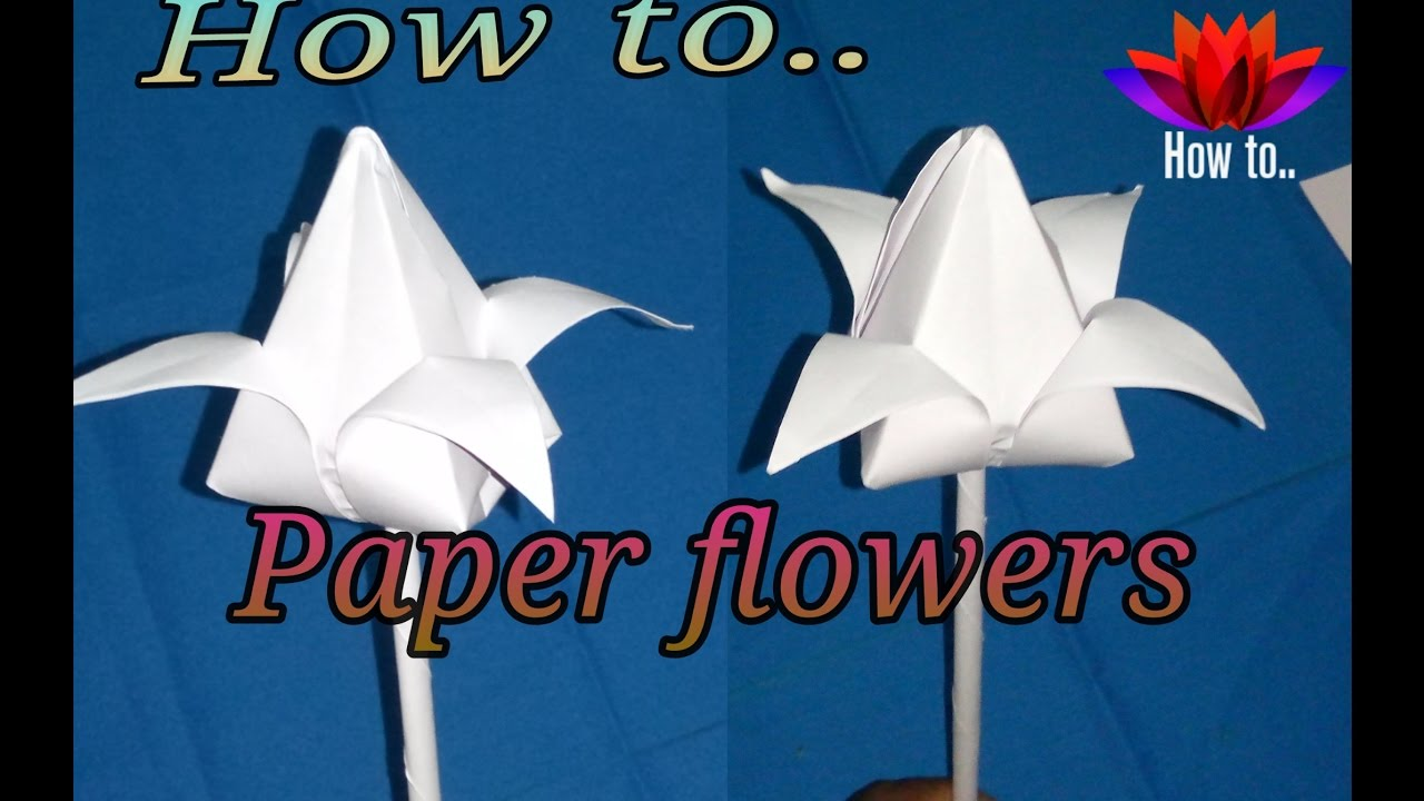 How To Make A Paper Flowers Step By Step Very Easy And Simple