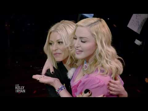 """Madonna and Anderson Cooper Play """"Sketching with the Stars"""" with Kelly & Ryan"""