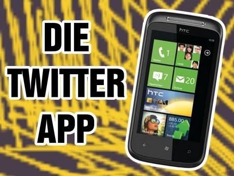 HTC 7 Mozart: Die Twitter App