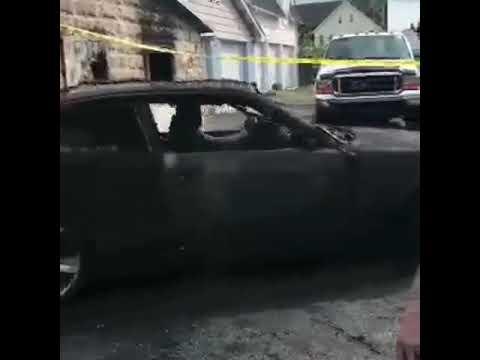 Burnt bmw drives out of burned down garage!!