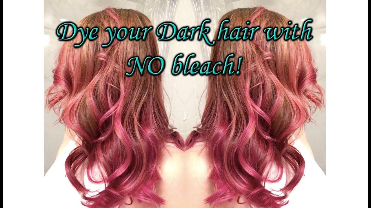 Dark Hair Purple Pink No Bleach