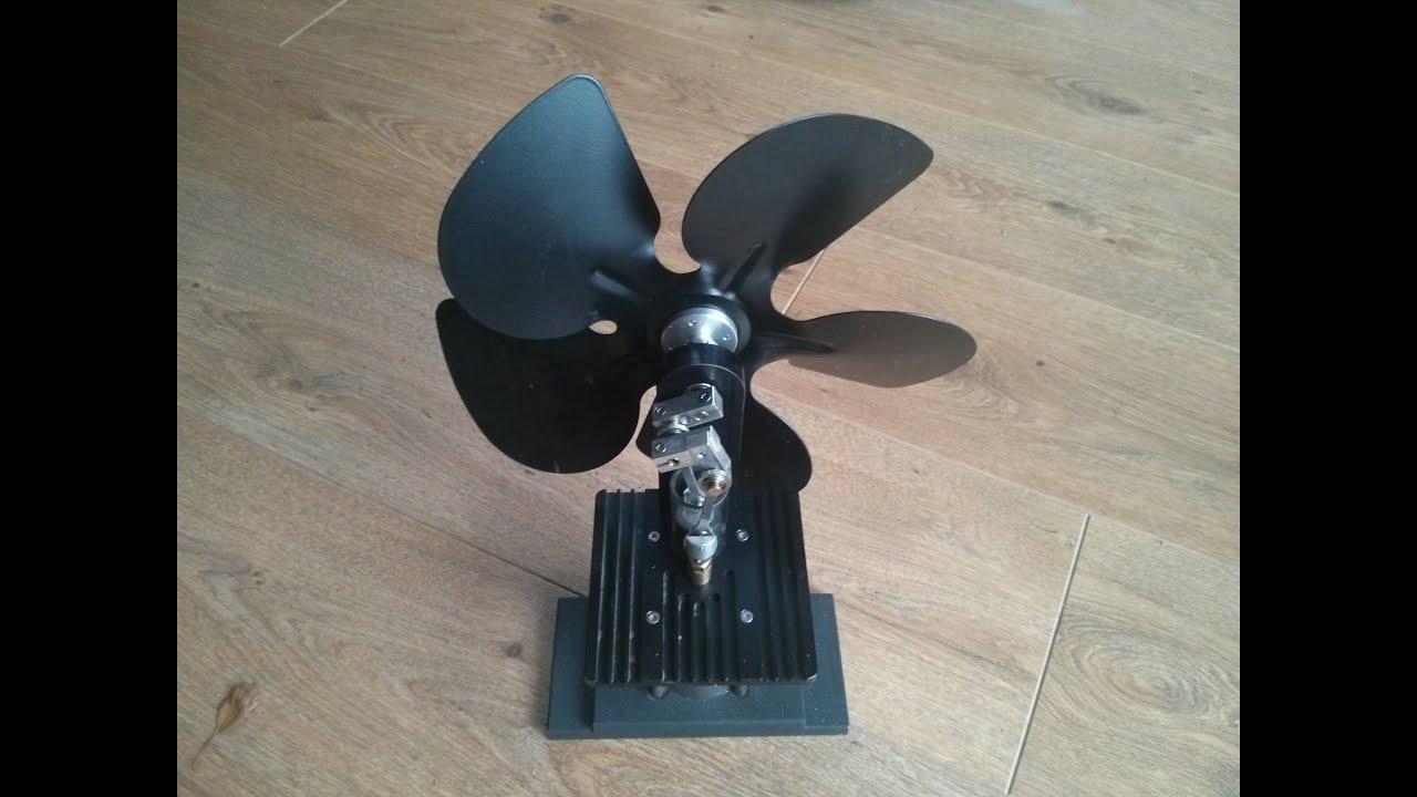 Stirling Engine Wood Burner Fan Youtube