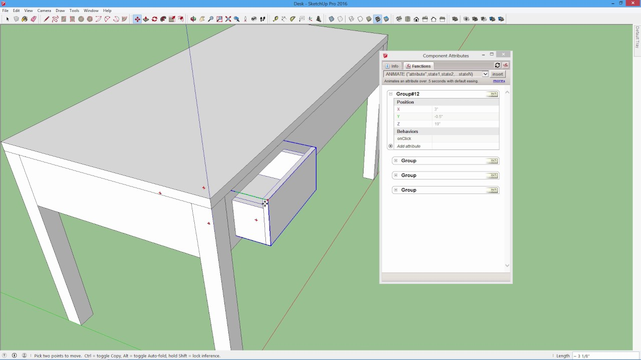 SketchUp - Making a Dynamic Component