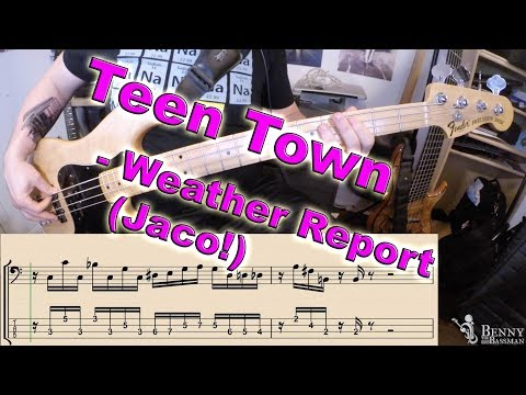 Weather Report - Teen Town [BASS COVER] - with notation and tabs