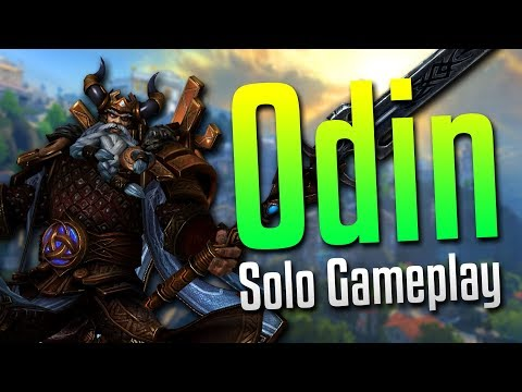 Smite: TRAPPED!- Odin Solo Gameplay