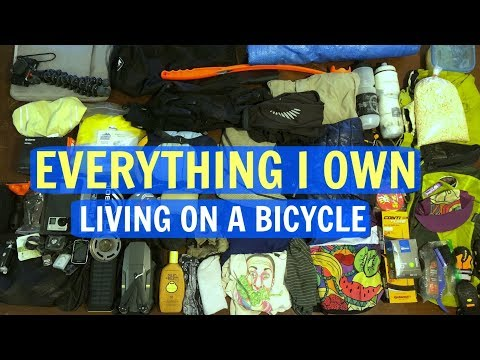 EVERYTHING I OWN Living On A BICYCLE | Minimalist