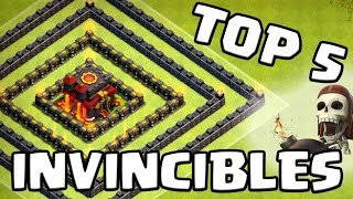 Clash of Clans | TOP 5 Bases INVINCIBLES | Les meilleurs villages GDC du moment | Français