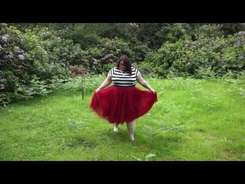 Swishing around in my Society Plus tulle tutu skirt