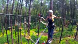 treetop trekking Ganaraska Forest WoodPecker run