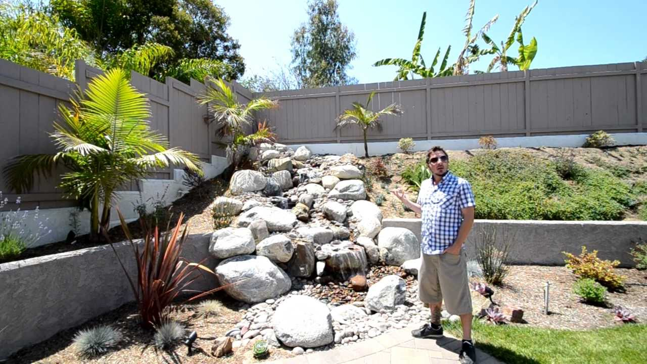 Exceptionnel San Diego Backyard Waterfalls By California Smartscape